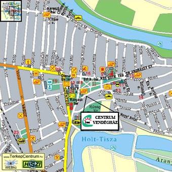 csongrád térkép Centrum Vendégház csongrád térkép